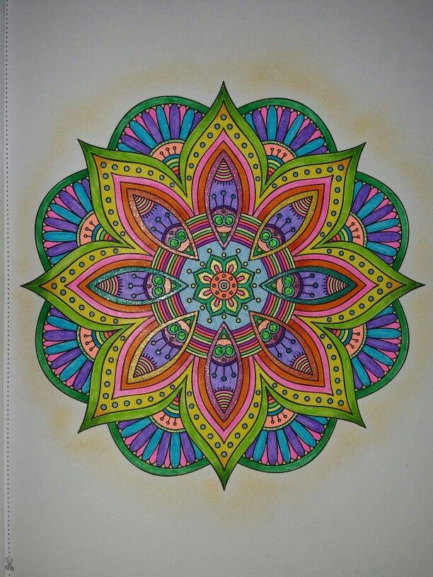 Groovy mandala Colored pencils