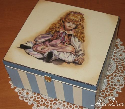 Doll - decoupage box