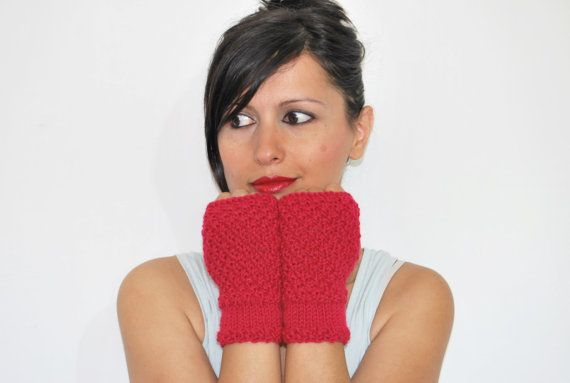 Knit Fingerless Gloves// Long knit gloves by TheWoollyHill on Etsy, €20.00