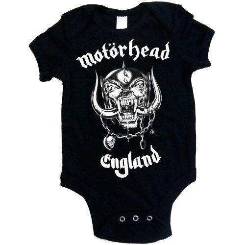 Body para bebé de #Motörhead England #rock #lemmy #merchandising