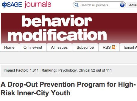 A Drop-Out Prevention Program for High-Risk Inner-City Youth | Sage Publications