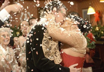 Eastenders Kat & Alfie:  Kat almost had a very different wedding day – she was due to get hitched to local wide boy Andy Hunter but luckily her secret crush Alfie found out about her true feelings and hijacked the occasion. The pair soon had their own reasons to celebrate, marrying on Christmas Day.