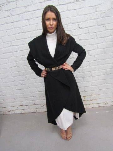 BAGIRA #Black #Coat #Winter #Warm #Cozy #Fashion #appletreeboutique #shop #online 47 Jetty Rd Glenelg SA 5045 www.appletreeboutique.com.au