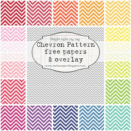 FREE chevron pattern printables.