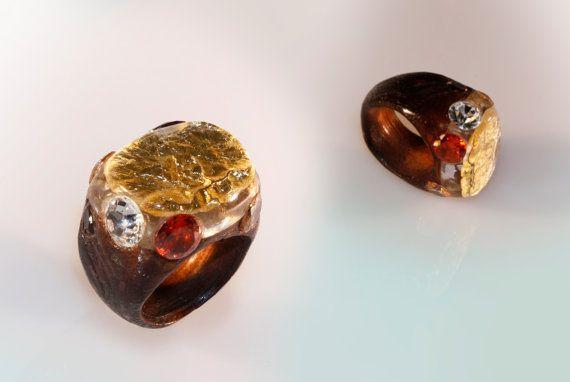 Anello scolpito lavorato a mano gioiello di di SPhandmadejewelry
