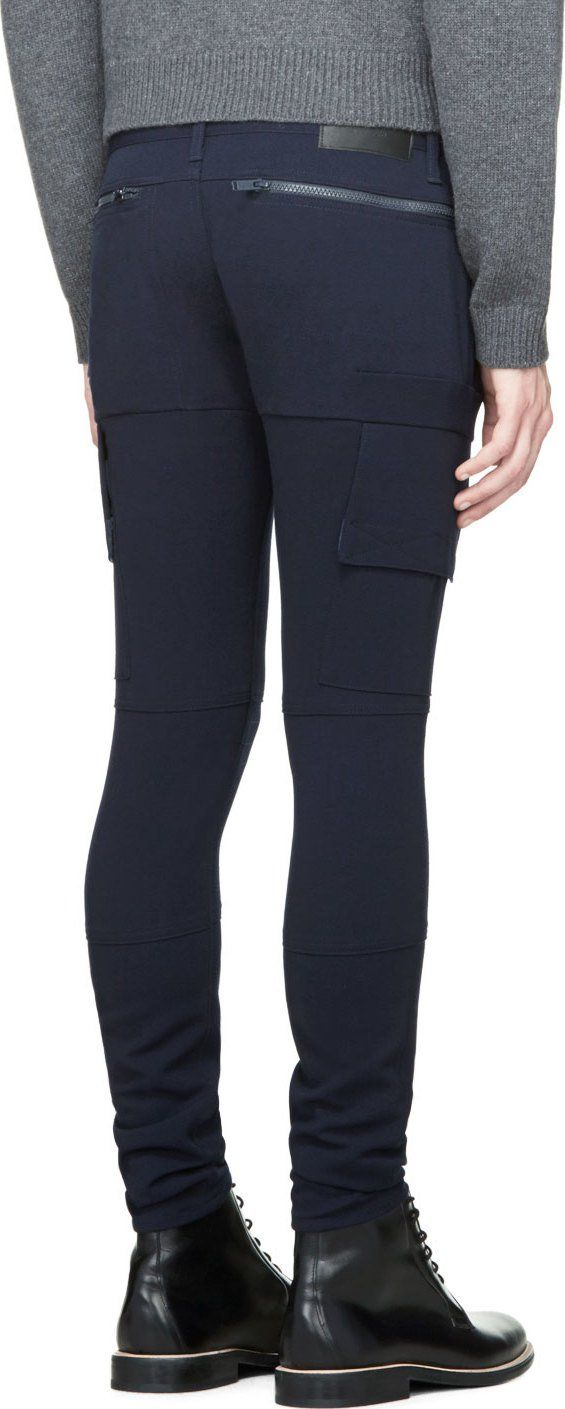 Undercover Navy Cargo Pocket Zipper Trousers