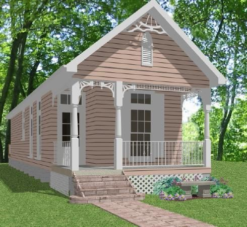 Great looking shotgun style little house tiny homes for Shotgun home designs
