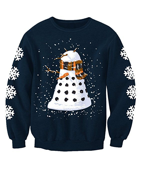 Kids Snowy Dalek Doctor Who Inspired Childrens Novelty Christmas Printed Sweatshirt Jumper XL: Amazon.co.uk: Clothing