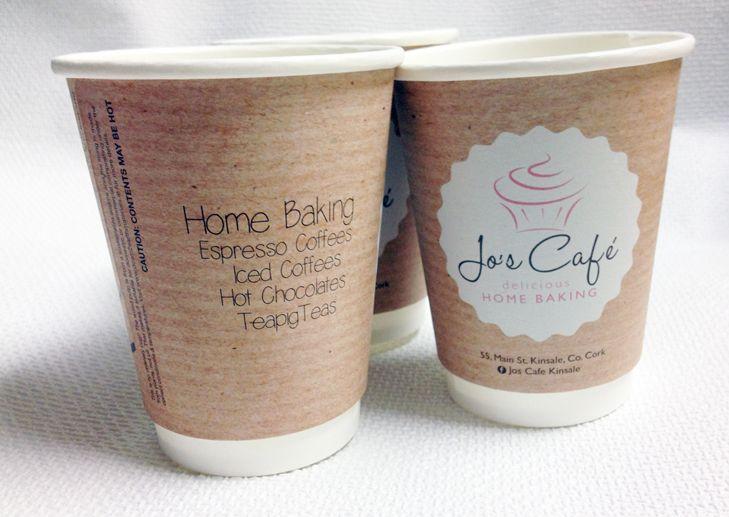 Jo's Cafe - Custom Coffee Cup Design