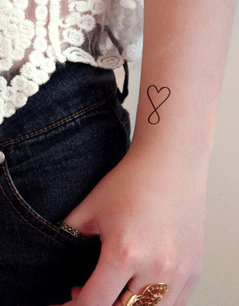 Kleines temporäres Herz Tattoo, Infinity, Unendlichkeit, Sommer Accessoire / tiny temporary heart tattoo made by Tattoorary via DaWanda.com