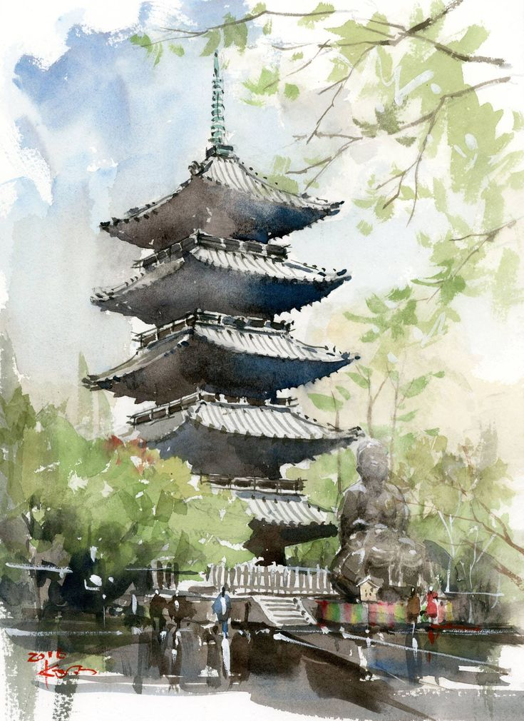 25 best ideas about japanese watercolor on pinterest for Japanese watercolor paintings
