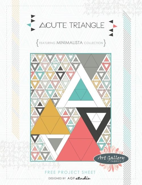 Acute Triangle by AGF Studio free pattern