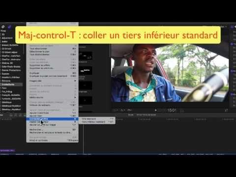 FCPX 10.3 #24 Titres et textes - YouTube
