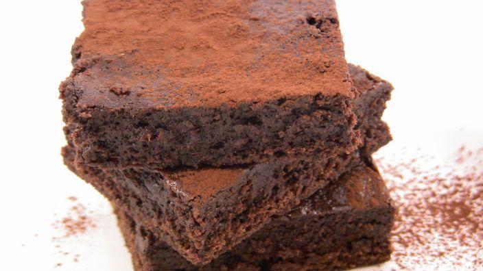 Silky Rich Chocolate Brownies  Low fat - big taste