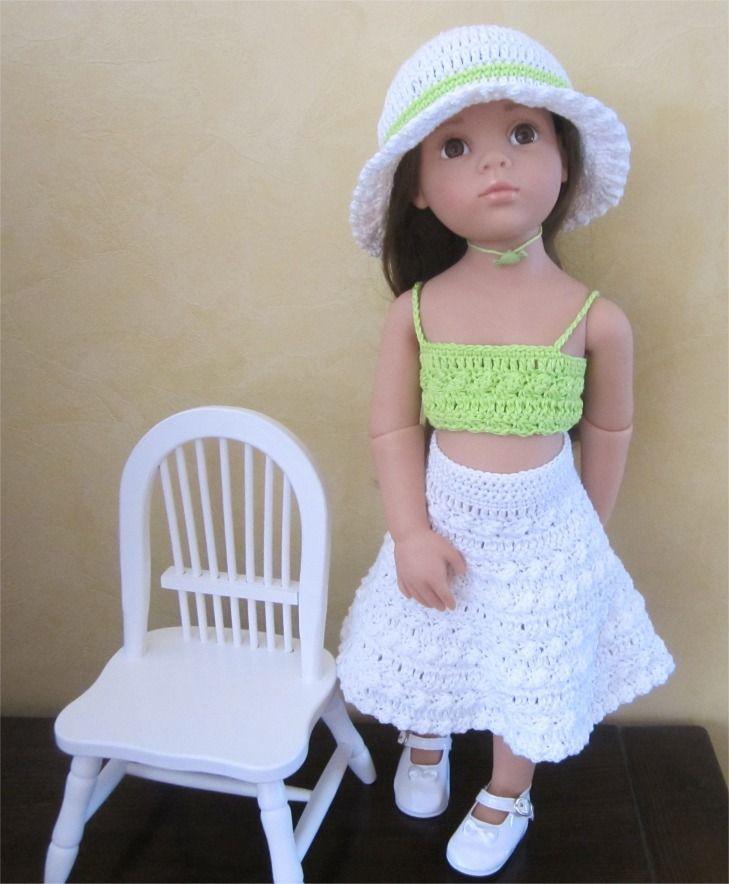 25- FICHE PATRON CROCHET Tenue Myosotis pour poupée Hannah de GOTZ : Jeux, jouets par atelier-crochet