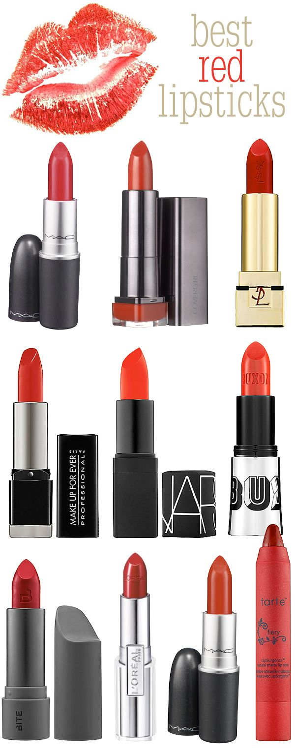 Top 10 Red Lipsticks.