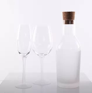 buy homewares australia, frosted champagne glass, frosted wine glass, frosted water bottle with lid, homewares