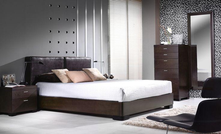 Amueblamiento dormitorio cama tapizada mesitas xinfonier - Mobelpark
