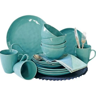 Over and Back Summit Lake 16 Piece Dinnerware Set & Reviews   Wayfair Supply