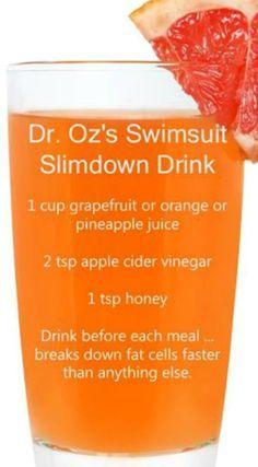 Dr. Oz's Swimsuit Slimdown Drink Recipe