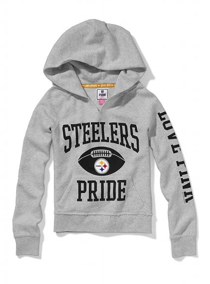 Pittsburgh Steelers Split Neck Hoodie - Victoria's Secret PINK® - Victoria's Secret