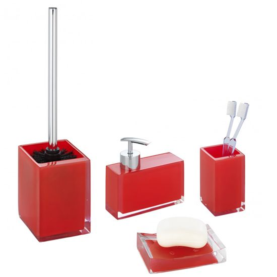 Photo Gallery Website red bathroom accessories sets