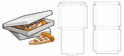 Structural (Technical Drawing) Packaging Design for Pizza