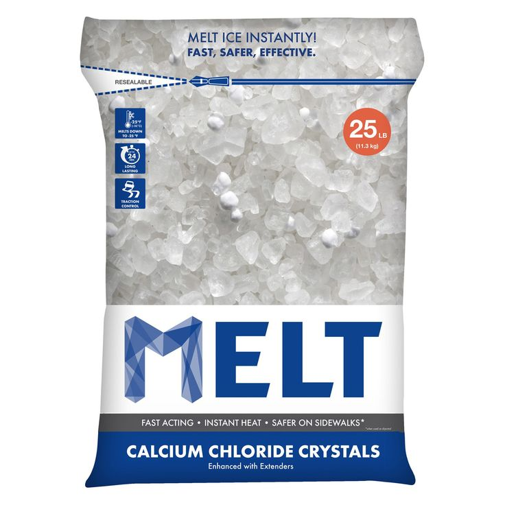 Snow Joe Calcium Chloride Crystals Ice Melter in Resealable Bag - MELT25CC