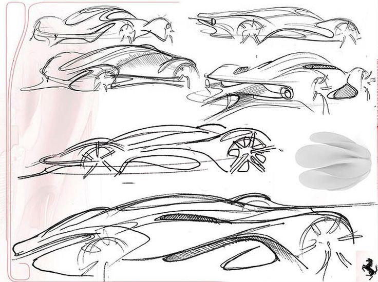 Quick sketches for Ferrari project by Paul Nichols, 2011