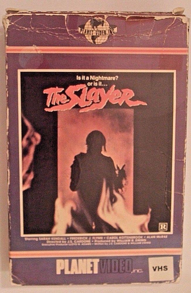THE SLAYER Planet Video VHS Big box gore horror VIDEO NASTY Paragon Wizard HTF