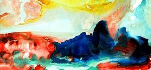 Original Watercolor Canvas