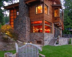traditional exterior by SHKS Architects: Mountain Cabins, Dreams Home, Dreams Houses, Shks Architects, Modern Rustic, Lakes Houses, Traditional Exterior, Logs Cabins, Rustic Home