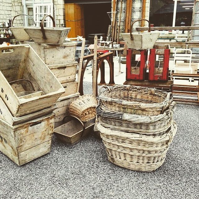 Following another great trip to France we have some great new stock landing soon #antiquefurniture #frenchantiques  #newstock #france #buyingtrip #salvage #salvaged #antiqueshopping #country #countrystyle #baskets #crates #natural #naturalhome #wickerbasket #texture #colour #bare #jeffreyandday #marketharborough