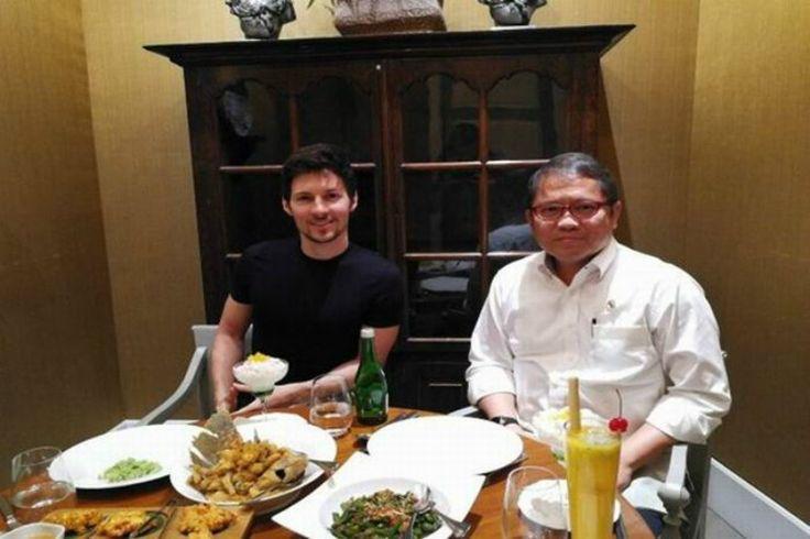 Jauh  Jauh Dari Rusia CEO Telegram Dikasih Makan Siang Ini Sama Kemkominfo