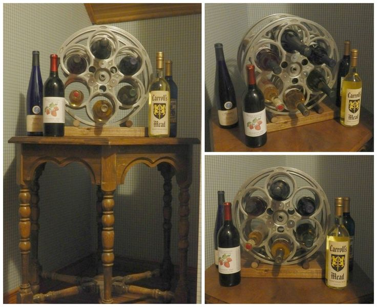 95 best images about industrial living on pinterest door for Movie reel wine rack