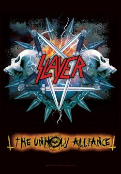 "#Slayer "" Unholy Alliance"" Fabric Posters - Madcap Music and More.com # $14.95"
