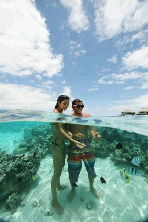 French Polynesia / Bora Bora / Crystal clear waters