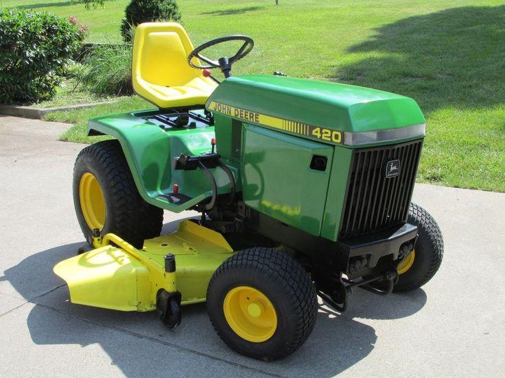 John Deere 420 Garden Tractor John Deere Pinterest
