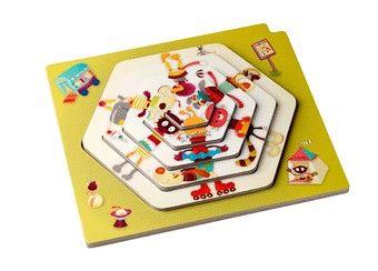 knotsgekke circus puzzel show Lilliputiens | kinderen-shop Kleine Zebra