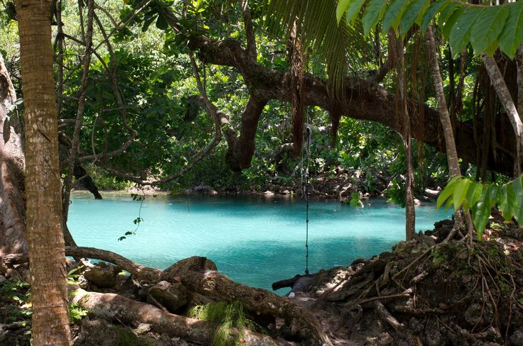 Blue lagoon, Port Vila, Vanuatu -