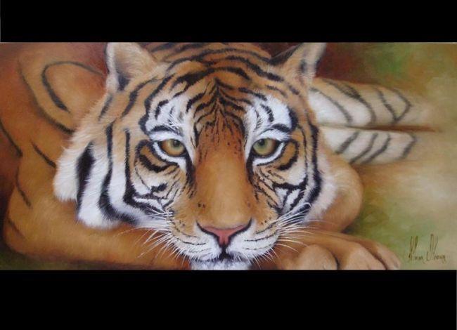 Tigre - Pittura, ©2010 da Silvana Oliveira -