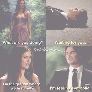 Awww....Damon is just as sweet as Ian is. forever #delena