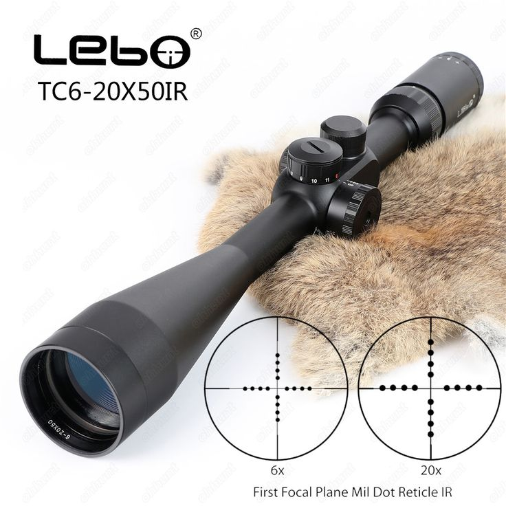 LEBO TC 6-20x50 IR First Focal Plane Riflescope Side Parallax Mil dot Glass Etched Reticle Rifle Hunting Shooting Tactical Scope #Affiliate