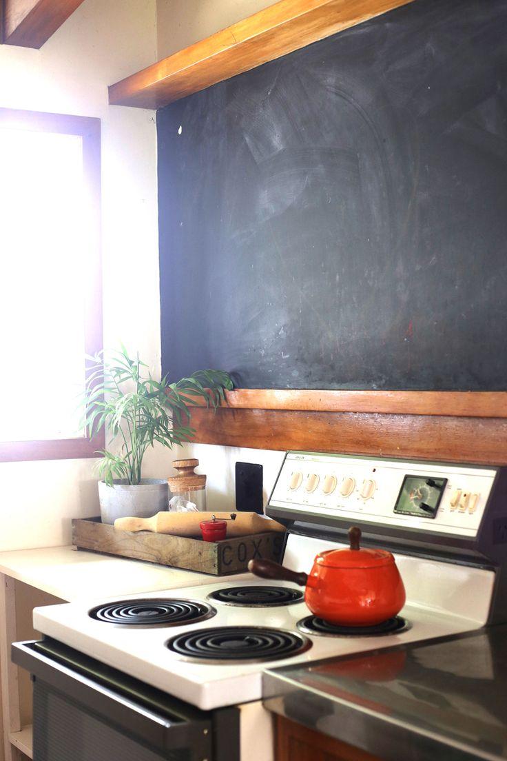 #vintagepot #orangepot #kitchendetail #blackboardwall #styling by #placesandgraces