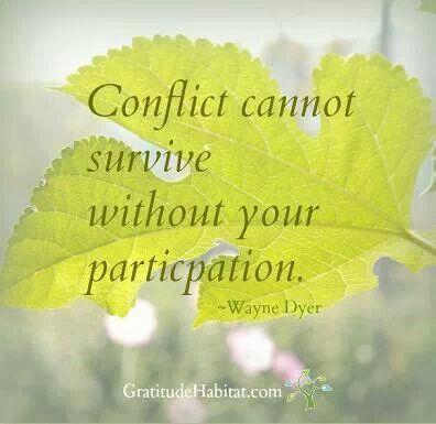No conflict...