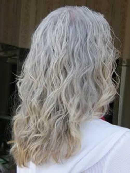 Gray Hair Loose Perm Hairstyles Long gray hair Long