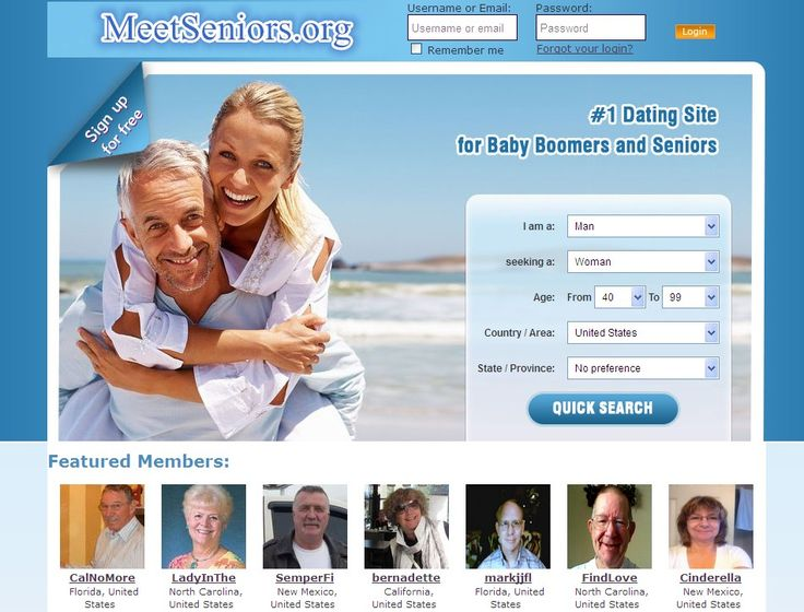dating website for seniors Dating websites seniors over 50 - men looking for a man - women looking for a man  compare dating, over time later, a senior dating website that he left.
