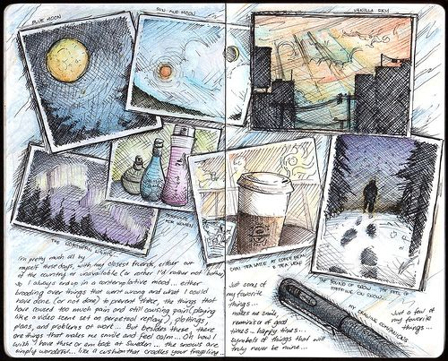 Sun and Moon awesome way to journal travels