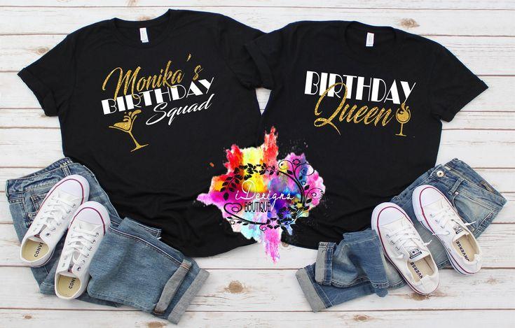 Birthday group shirts name birthday squad shirt friend