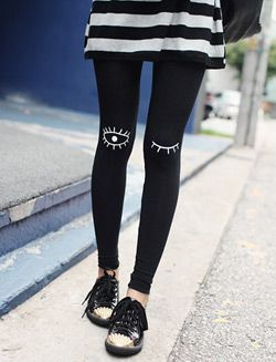 Original eye leggings ❤ Pinned on behalf of Pink Pad, the women's health mobile app with the built-in community